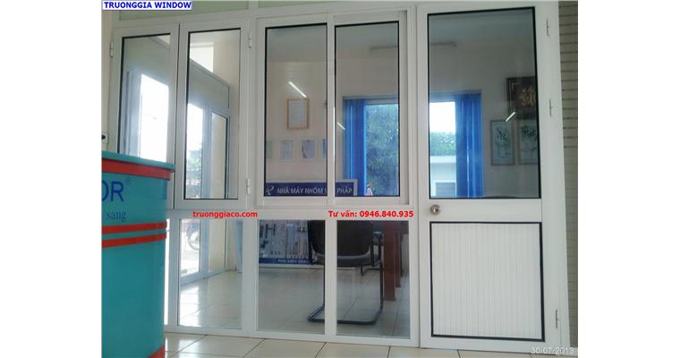 Mẫu cửa nhôm đẹp và sang trọng Việt pháp hệ 4400, cửa đi và cửa sổ
