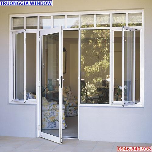 Mẫu cửa 4400 việt pháp liền cửa sổ