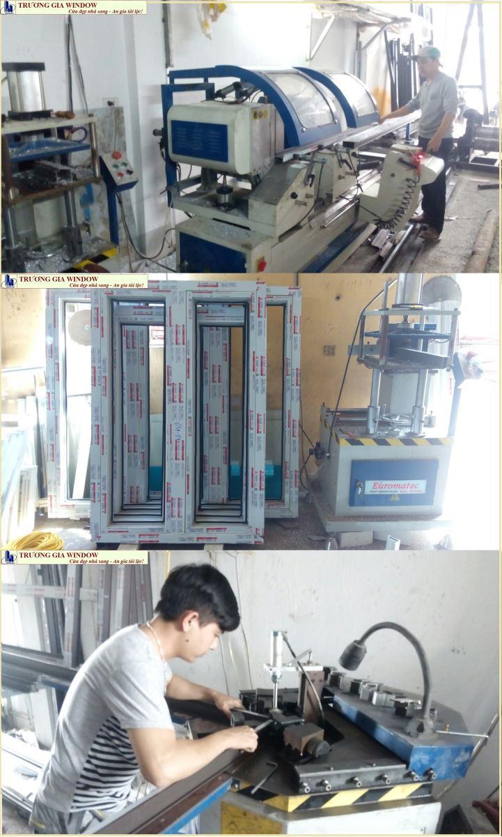 máy sản xuất cửa nhôm hiện đại
