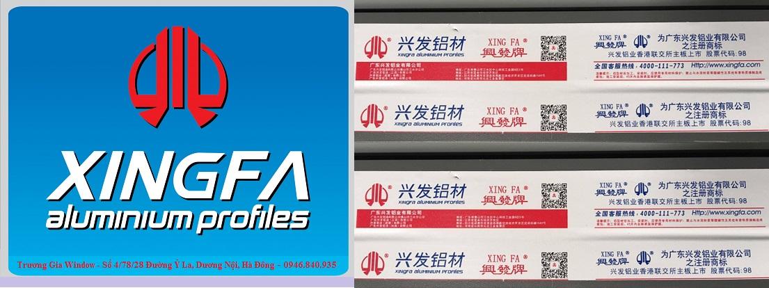 Logo nhôm Xingfa nhập khẩu chính hãng