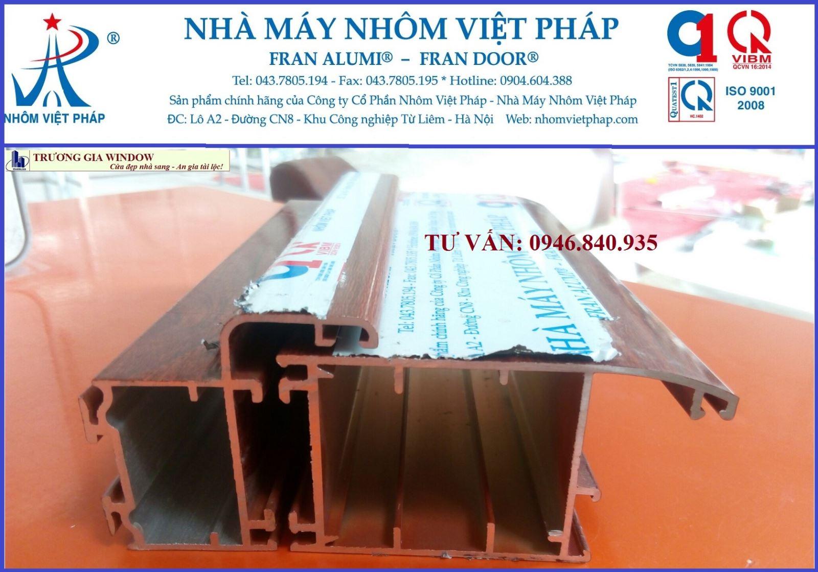 Cửa nhôm Việt pháp chính hãng, cửa nhôm Việt pháp từ liêm, cửa nhôm việt pháp hà nội