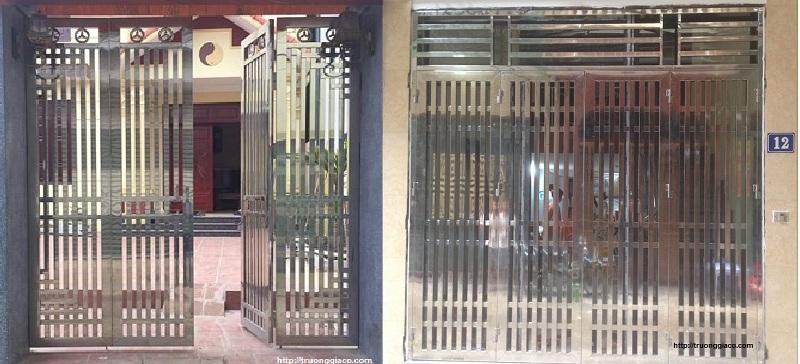 Mẫu cửa cổng inox đẹp
