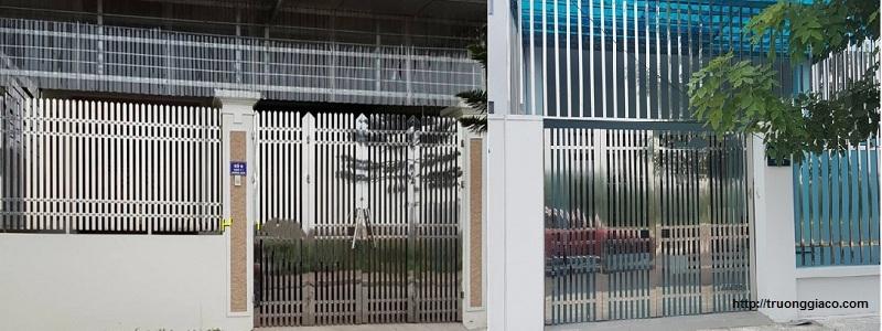 Cửa cổng inox 2 cánh, 4 cánh, 6 cánh đẹp, inox 304